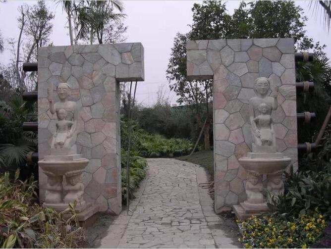 金属不锈钢现代雕塑公司_花园景观施工公司_成都妙相