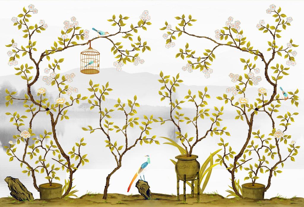 室内彩绘壁画效果好 风景园林设计 成都妙相环境艺术