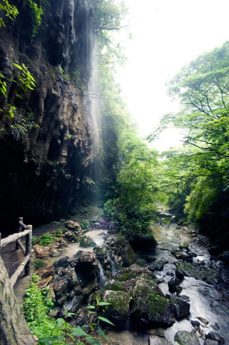 万盛黑山谷旅游景点_清凉黑山谷负氧离子_重庆黑山谷