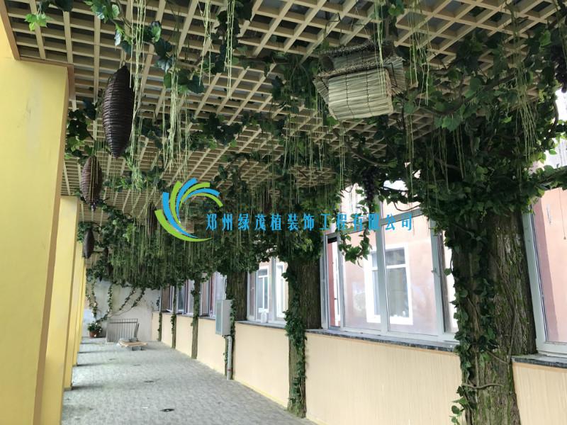 商场仿真绿植墙_郑州绿茂植装饰工程有限公司